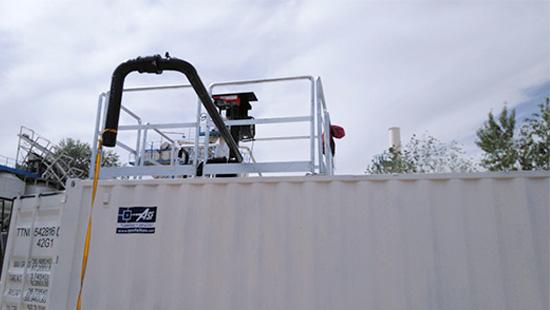 depósito almacenamiento de emulsión asfáltica